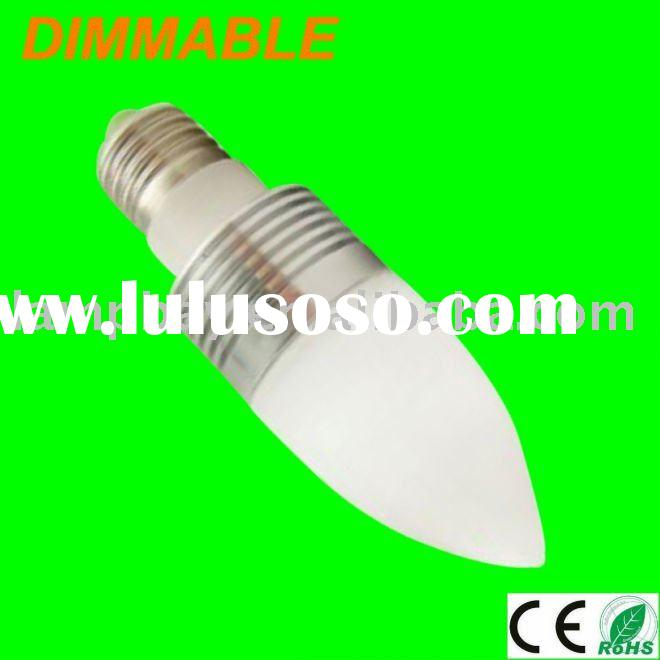 LED dimmable candle bulb E27 3W