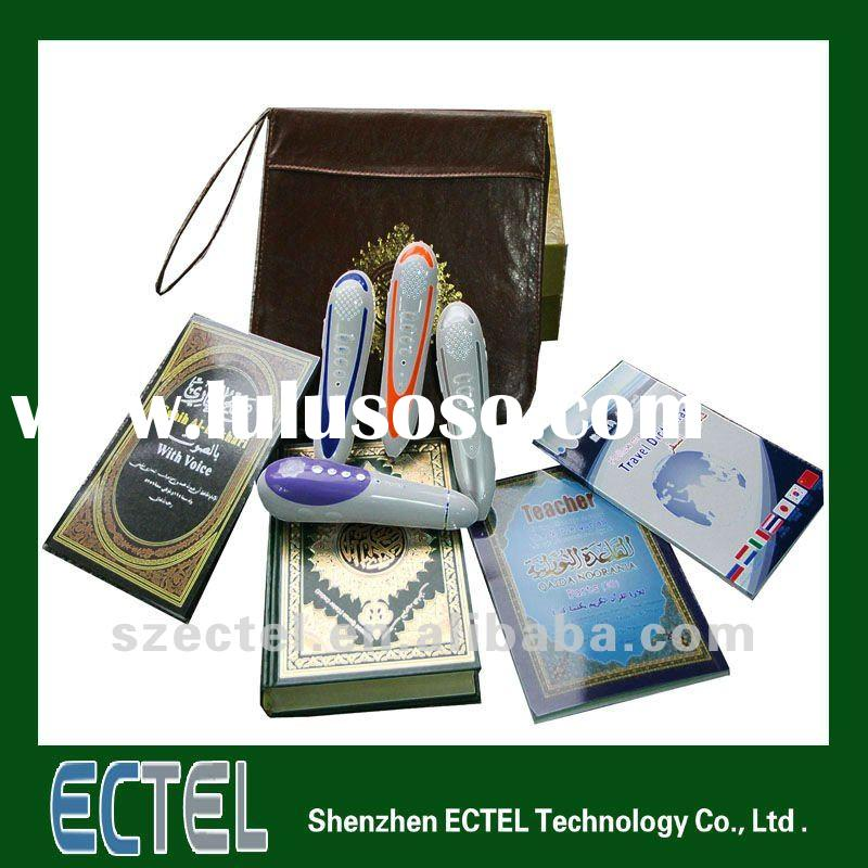 M9 Muslim digital Holy Quran pen reader Word by Word with wooden box/Nylon Bag/leather bag/paper box