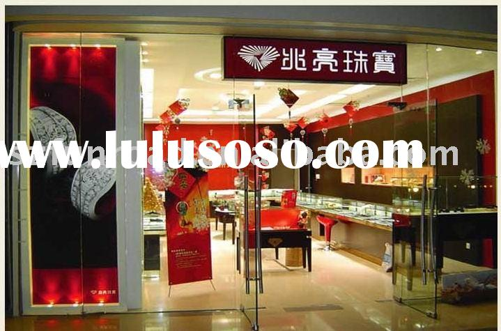 Mdf And Glass Jewellery Display Case, Dispaly Cabinet And Showcase For Showroom