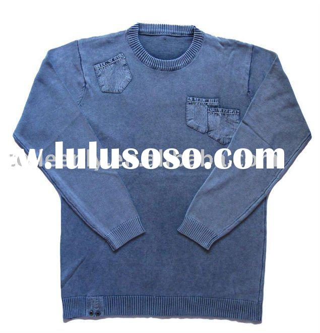 Men's Vintage Wash Cotton Sweater Pullover