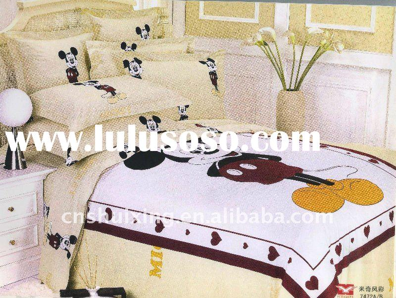 Mickey Mouse!!Pure Cotton Reactive Printed Kids Bedding