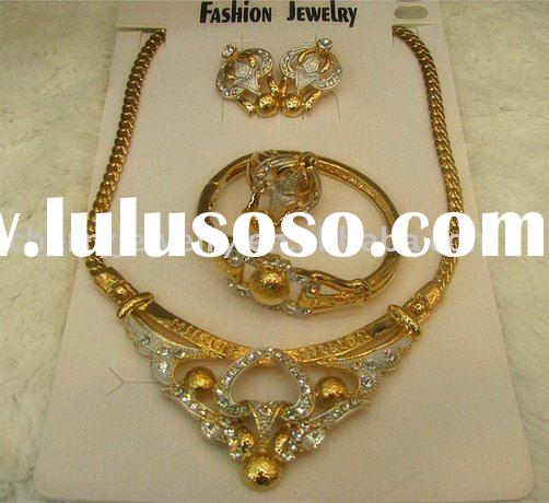New arrived Fashion design crystal India alloy jewelry set