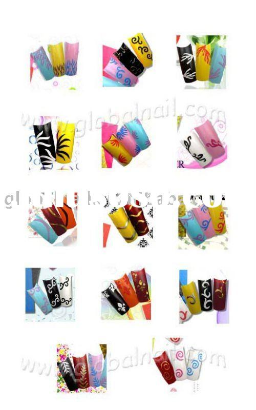 New-style Charming 3D Nail Art Stickers False Nail Decal Manicure Nail Art Tip Strips