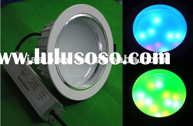 Newest!!! good price 18w high power dimmable dmx/rf rgb decorative led downlight shenzhen maker, sea