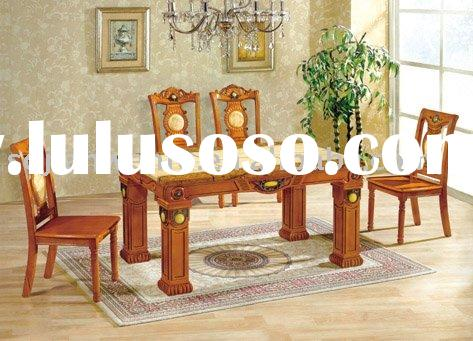 OAK wood natural wood dining table (#865)