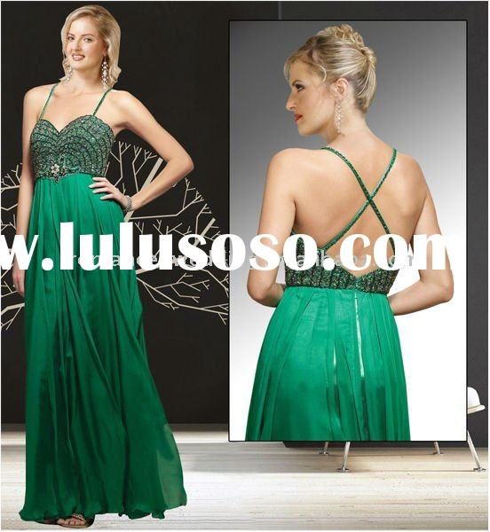 OG0060 Graceful A-line Sweetheart Beaded Green Ball Dress