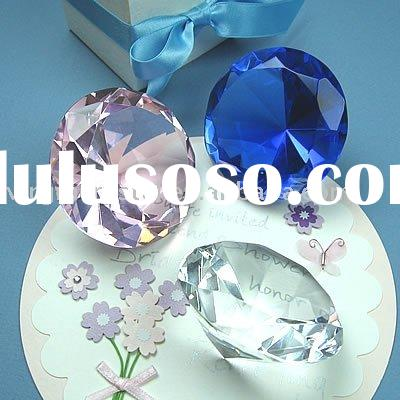 Optical Crystal Diamond Paperweight Wedding Guest Gifts