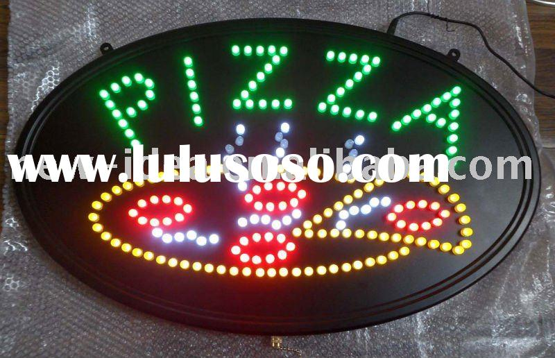 Oval Led pizza signs