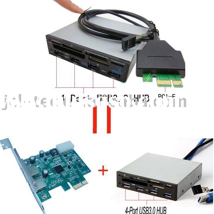"PCI-E PCI Express to USB 3.0 HUB with 3.5"" all-in-1 Internal Card Reader(six slot)"