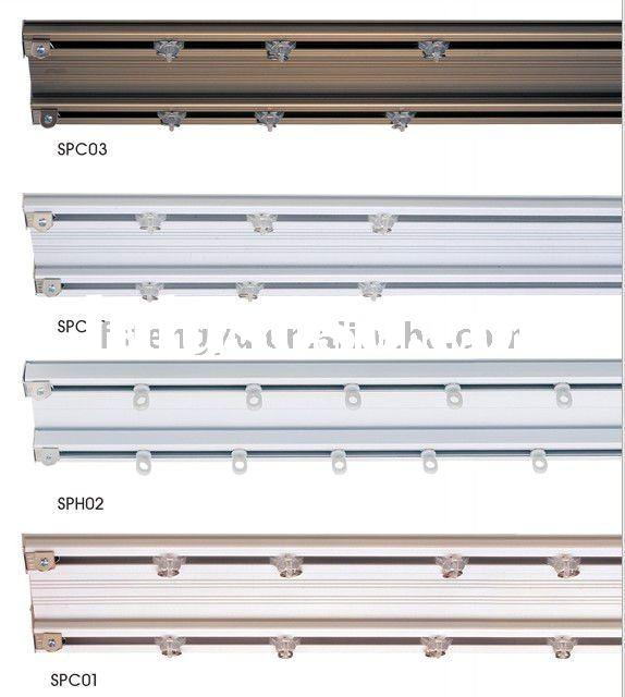 PVC double curtain track and rail