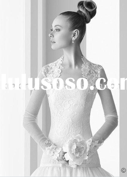 PW153 Delicate Flat chest lady strapless lace overlay sheath ball gown wedding dress