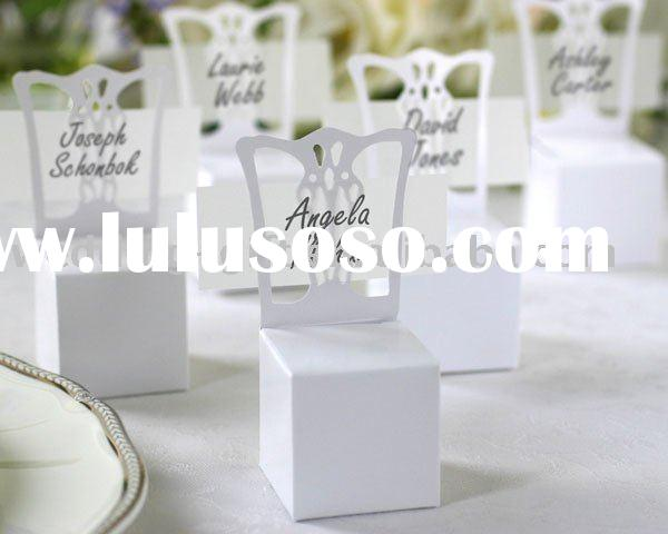 Party Supply of Miniature Chair Place Card Holder and Favor Box