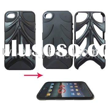 Personalized Fishbone Design Combo Silicone Hard Plastic Case Cover for iPhone 4G