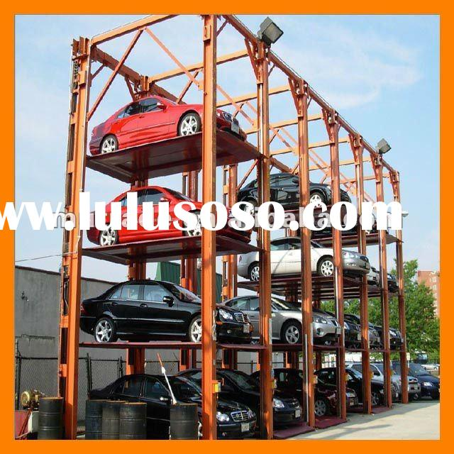 Portable garage Mechanical four post CAR STACKER PARKING SYSTEM 4 floors