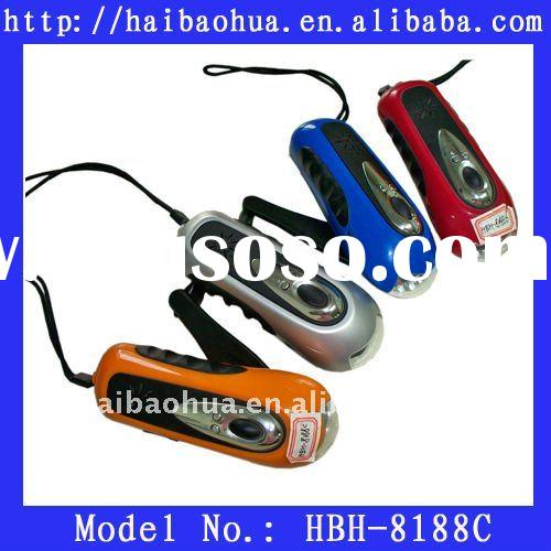 Practical dynamo torch,dynamo LED flashlight,hand crank flashlight torch