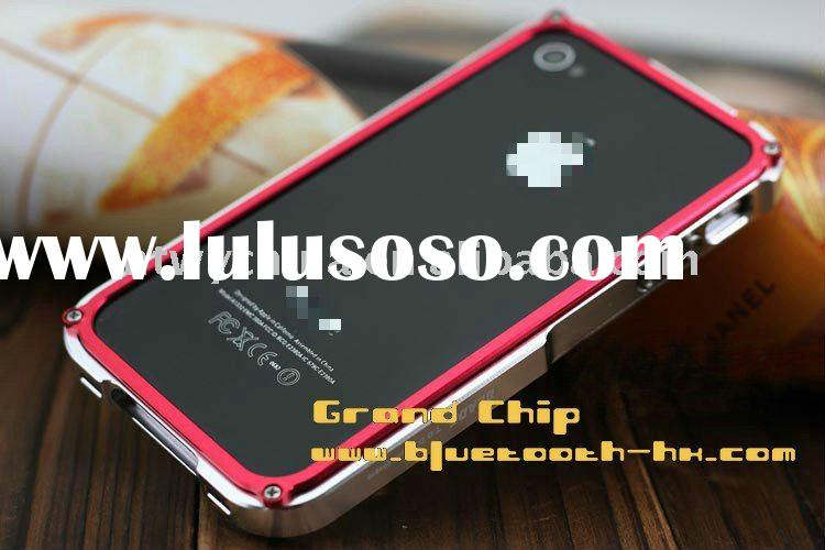 Promotion Silver/Red Blade Metal Aluminum case for iPhone 4g Aluminum case, Fast shipping & Whol