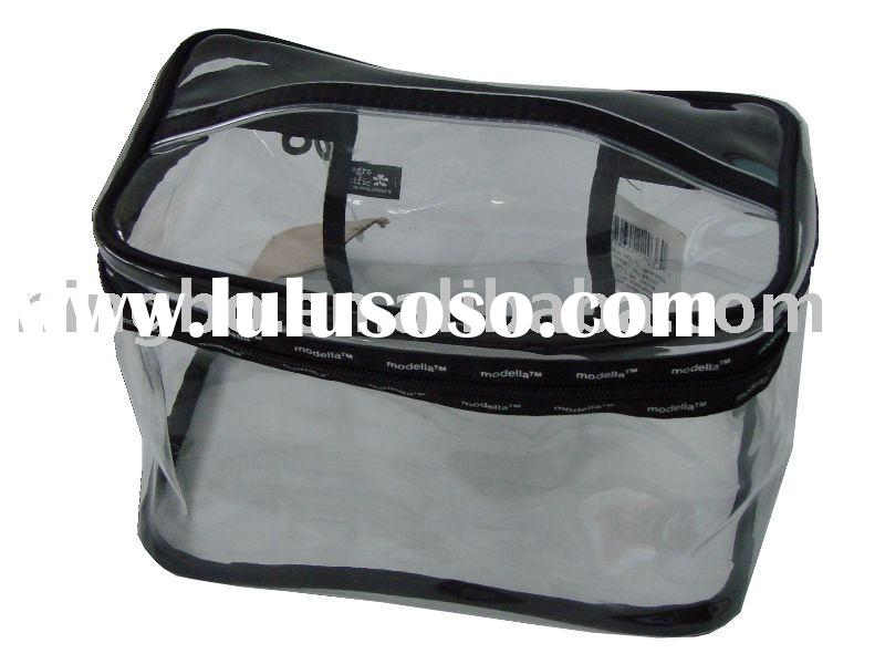 Pvc zipper bag / clear pvc cosmetic bag