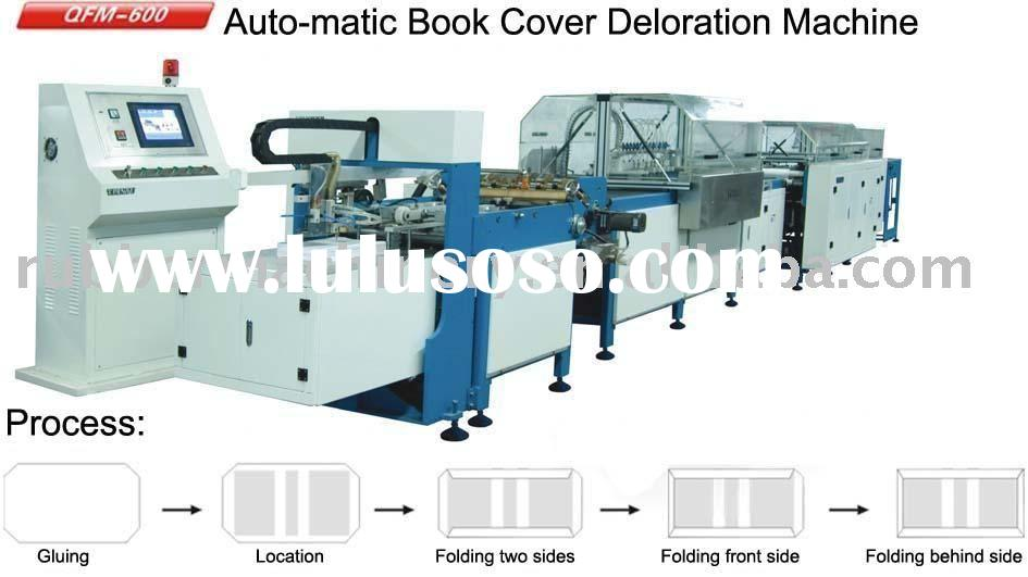 Book Covering Machine : Automatic book cover decoration machine packaging