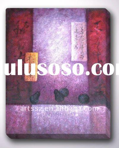 Red gourd Handmade Abstract Painting On Canvas