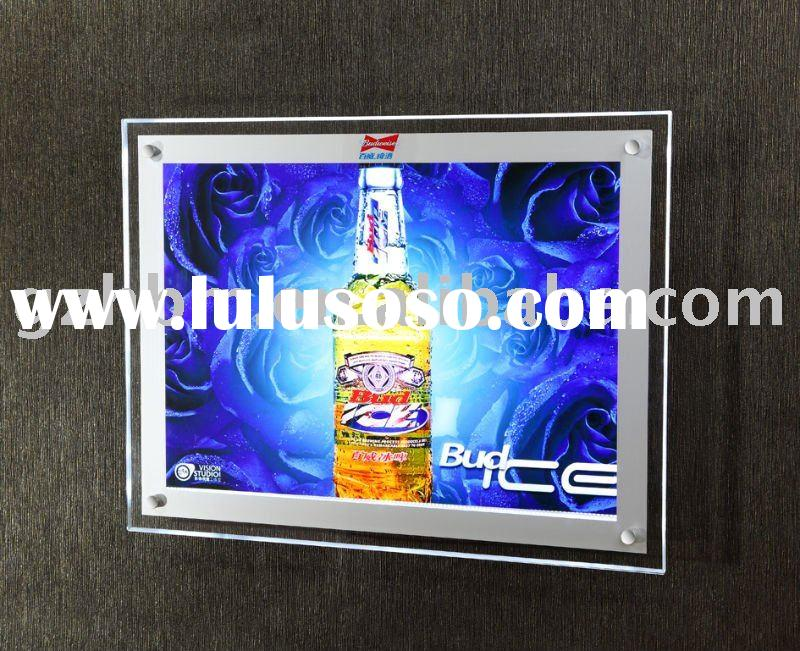 Slim LED acrylic light box display