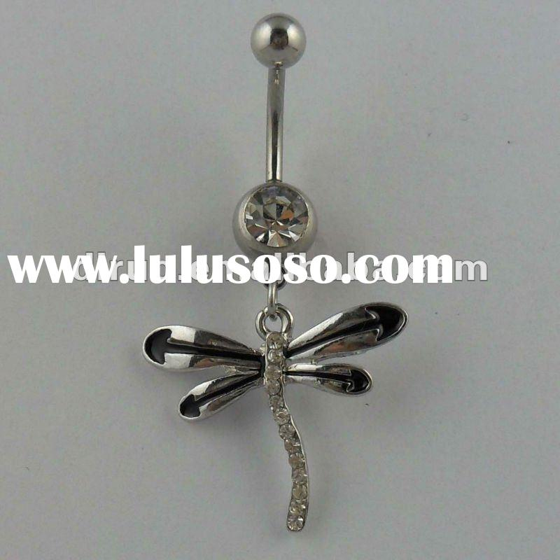 Stainless Steel Bar Animal Dragonflry Belly Ring Body Piercing Jewelry C2011-No.1 Supplier in China