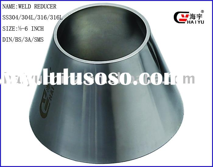 Stainless steel concentric reducer tri clover end