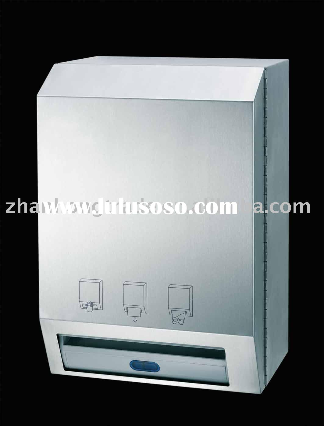 Stainless steel auto paper towel dispenser