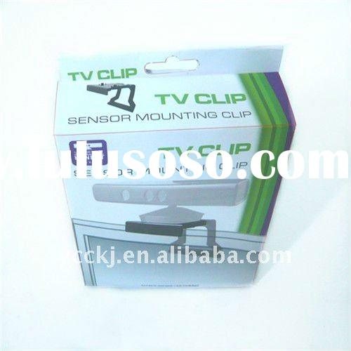 TV mounting clip for xbox360 kinect sensor for game accessory with color box or plastic packing