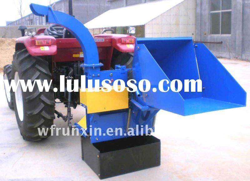 Tractor mounted pto wood chipper with CE certificate