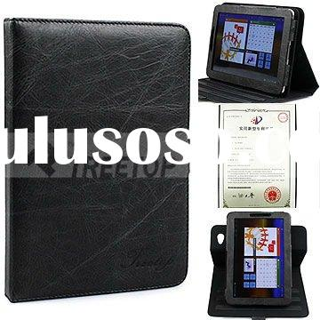 Treetop folio Style Genuine rotatable leather case for Samsung Galaxy Tab 7.7 P6800 real leather sle