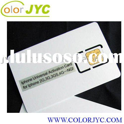 Universal activation card for iPhone 4,iPhone 3G/3GS