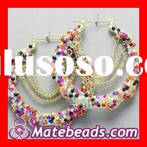 Wholesale Bamboo Earrings With Rhinestones