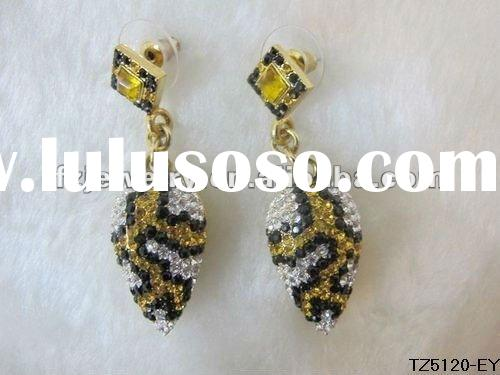 Wholesale crystal 2012 gold fashion earring
