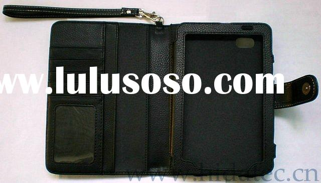 Wholesale, for Samsung Galaxy Tab P1000 genuine leather case, Horizontal book style, PayPal