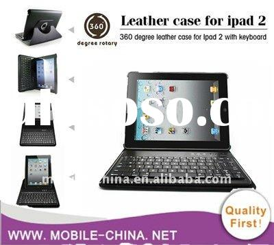 Wireless Bluetooth Keyboard Protective Leather Case For IPAD 2