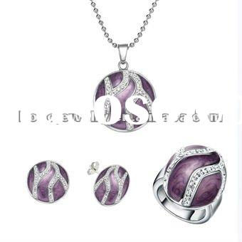 With Ring Pendant Earrings Jewelry Set