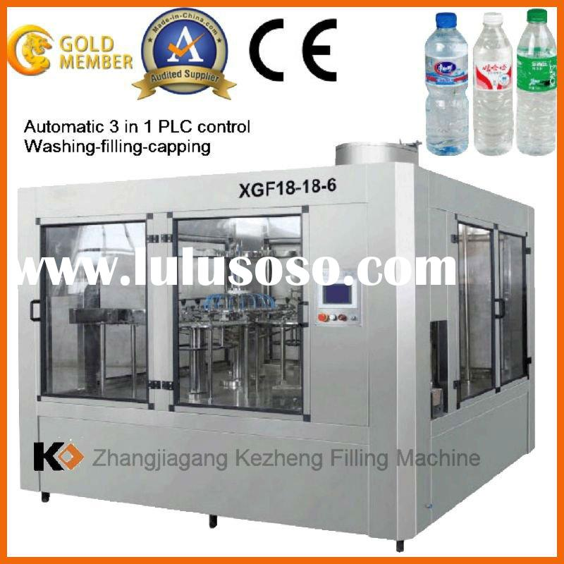 XGF 18-18-6 Automatic PET bottle water filling machine CE PLC+Stepless speed control