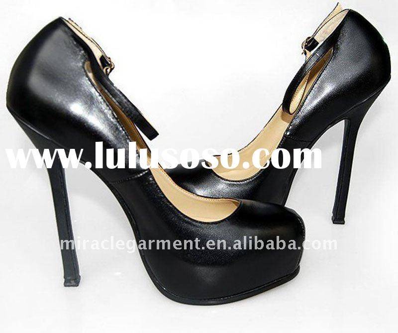 Y-s-l Black leather 2011 popular women shoes