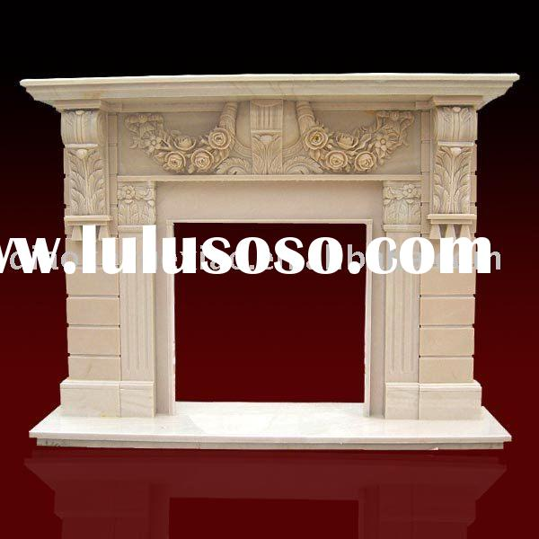 Yellow Marble Fireplace Mantel Designs