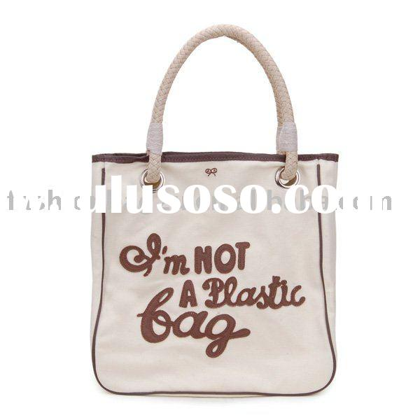 """""""i am not a plastic bag"""" canvas shopping bag for promotional"""