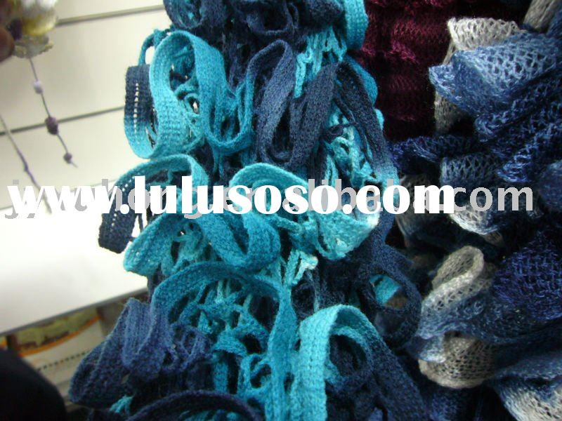 acrylic fancy fishnet yarn hand knitting scarf yarn