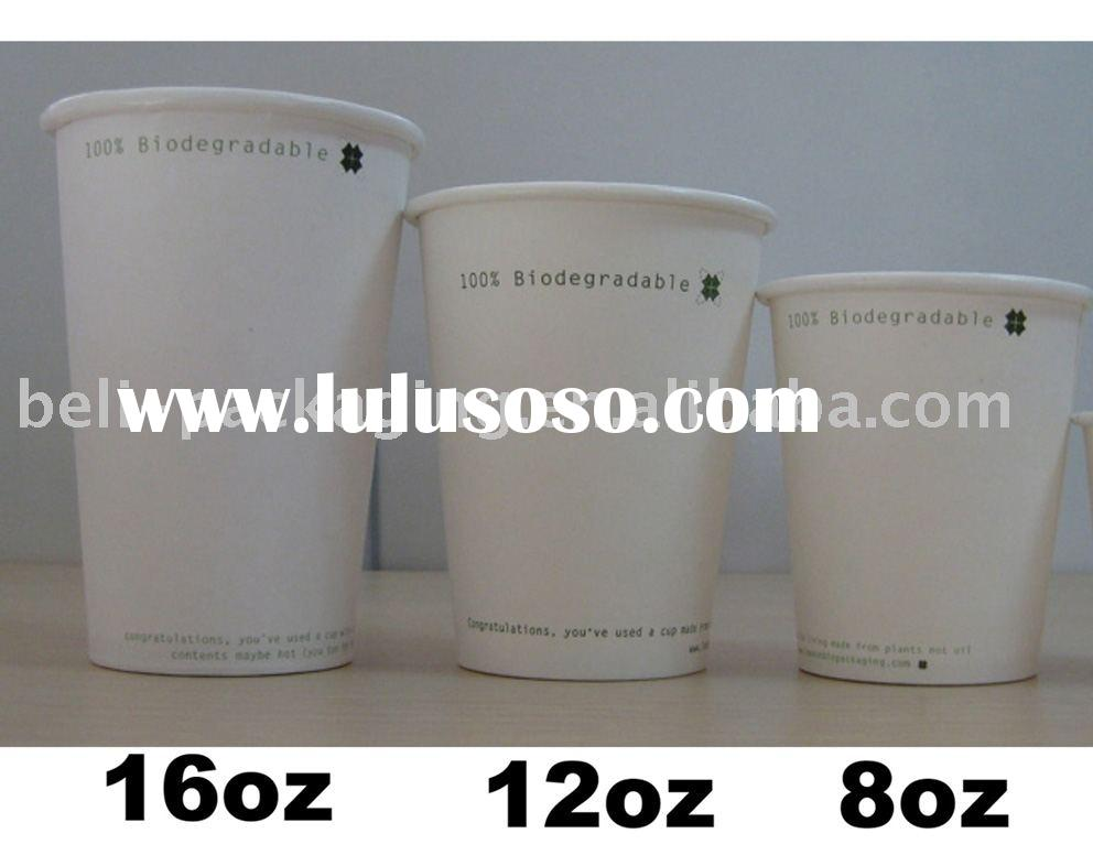 biodegradable PLA coated coffee paper cup