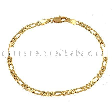 charm men's jewelry chain 18k gold plated necklace