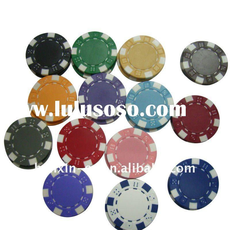clay dice poker chips