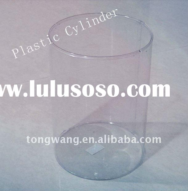 clear plastic PET seamed tube,PET cookie packing,plastic food packing