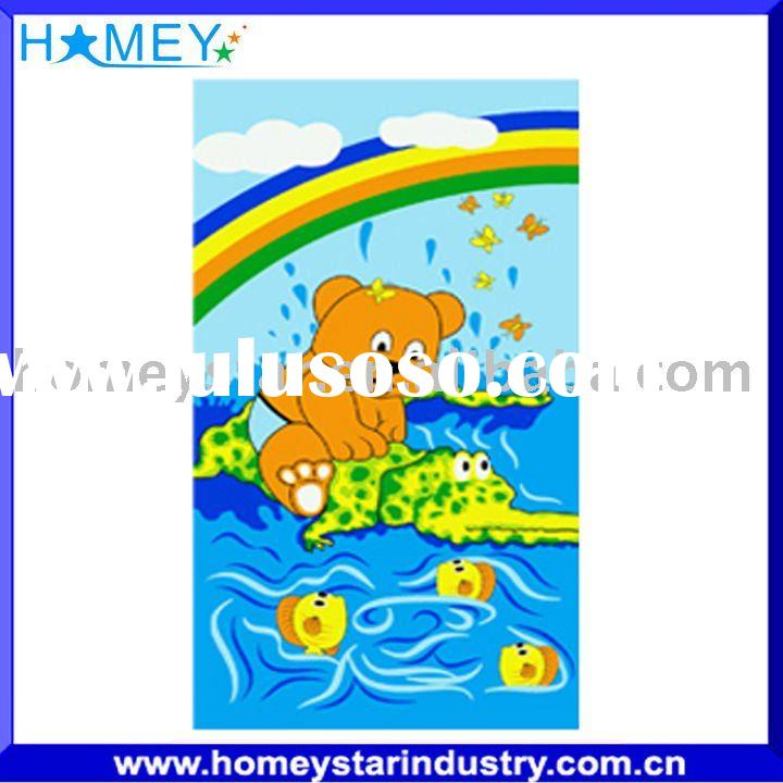 cotton beach towel stock