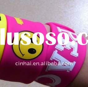 custom-made Printed Silicon Snap Bracelet in high quality