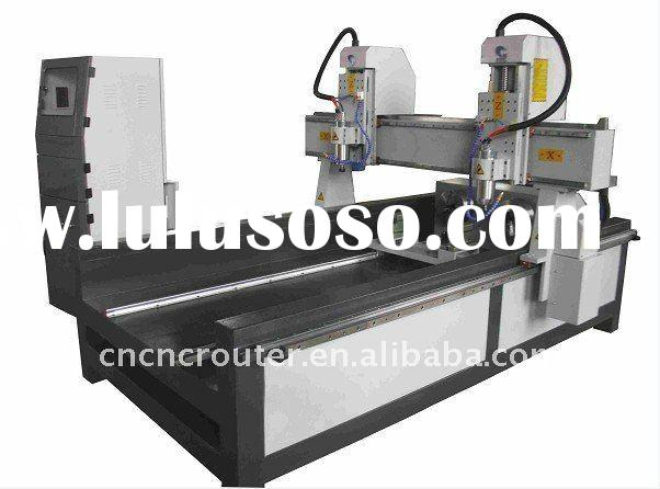 double heads cylinder wood cnc engraving machine
