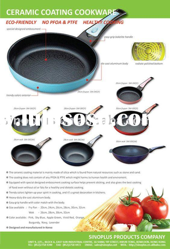 eco-friendly ceramic coating non-stick fry pan cookware set