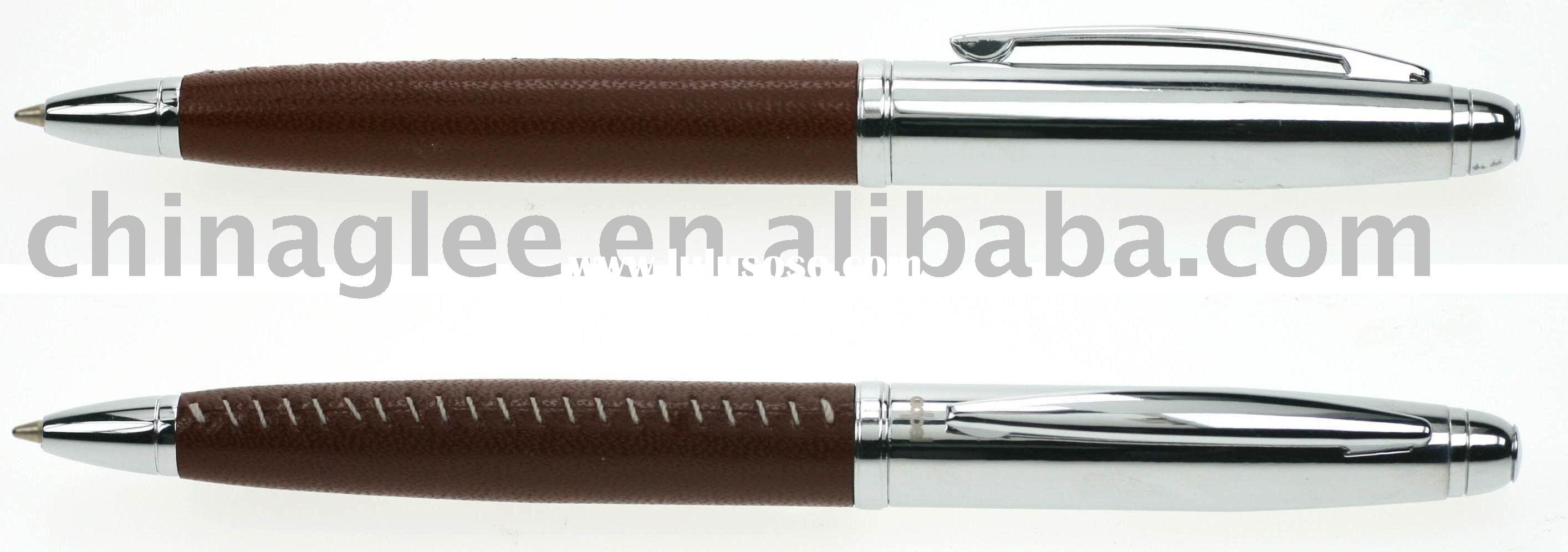 exclusive leather ballpoint pen